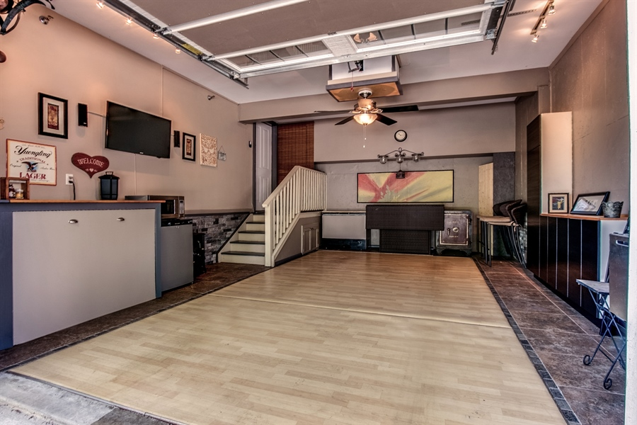 Real Estate Photography - 210 Phillips Mill Ln, Newark, DE, 19711 - Garage w/ Carefree Vinyl Flooring