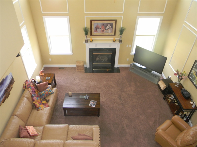 Real Estate Photography - 85 Rolling Green Ln, Elkton, MD, 21921 - Two-story Great Room w/ Den Divided by French Door