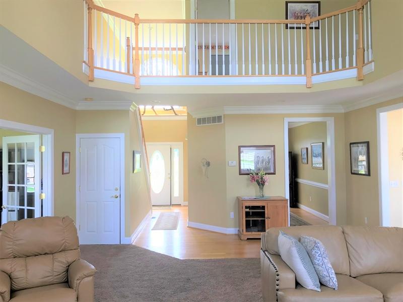 Real Estate Photography - 85 Rolling Green Ln, Elkton, MD, 21921 - Great Room w/ Bridge