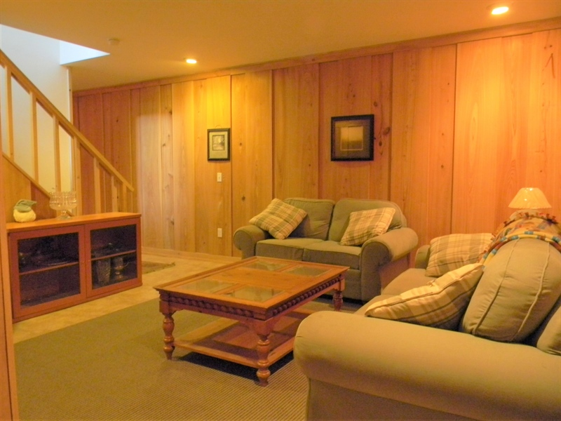 Real Estate Photography - 85 Rolling Green Ln, Elkton, MD, 21921 - Finished Basement w/ Cypress Paneling & Tile