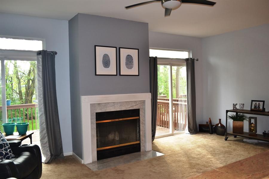 Real Estate Photography - 136 Shinn Cir, Wilmington, DE, 19808 - Gas Fireplace