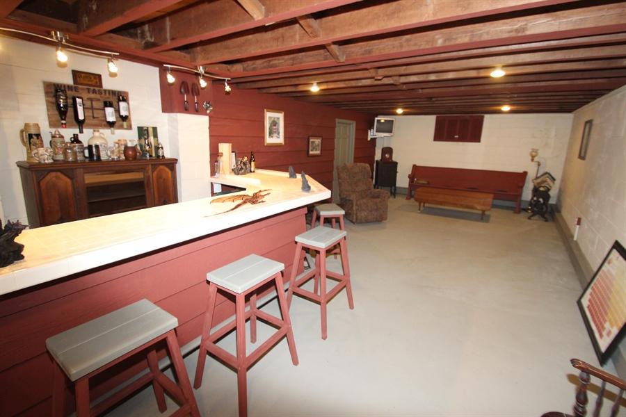 Real Estate Photography - 103 Mendell Pl, New Castle, DE, 19720 - Bar Area in basement