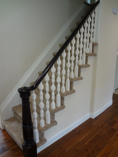 Real Estate Photography - 9 N Main Street, Magnolia, DE, 19962 - Renovated original stairway from 1880s