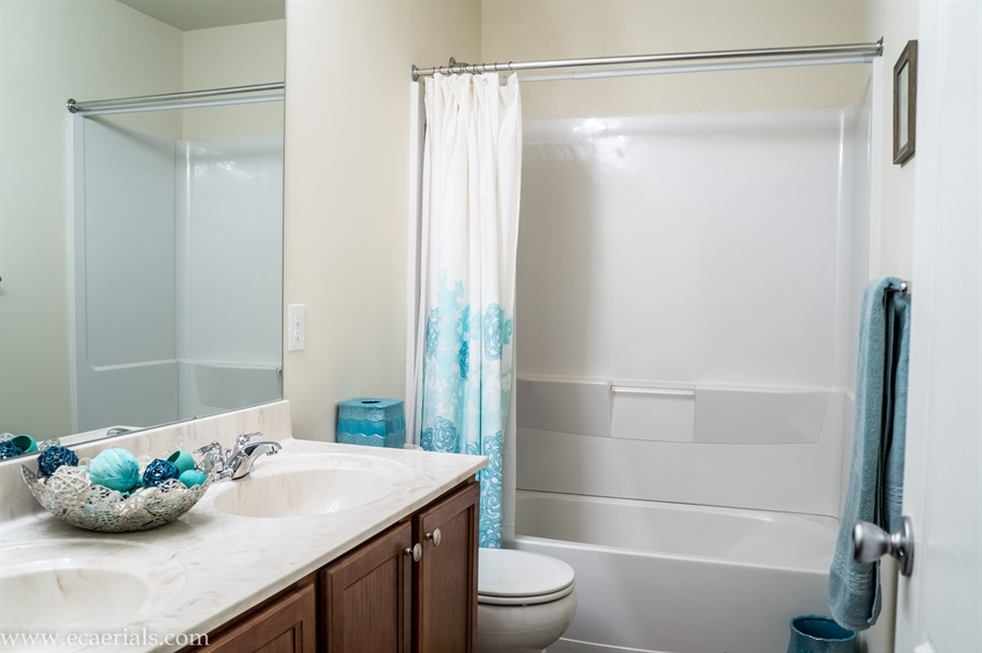 Real Estate Photography - 160 Shannon Blvd, Middletown, DE, 19709 - Hall Bathroom