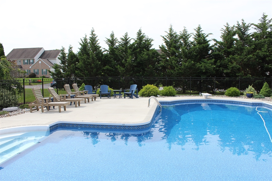 Real Estate Photography - 302 Red Cedar Ln, Bear, DE, 19701 - Salt Water Pool