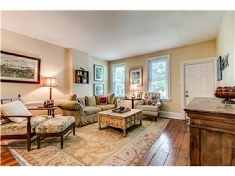 Real Estate Photography - 1524 Clinton St, Wilmington, DE, 19806 - Living Room with Hardwood Floors