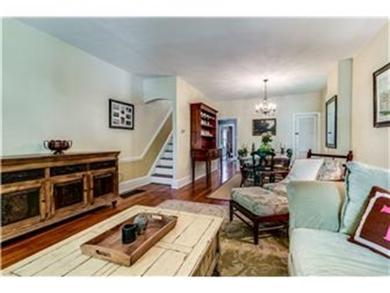 Real Estate Photography - 1524 Clinton St, Wilmington, DE, 19806 - Living Room Opens to Dining Room
