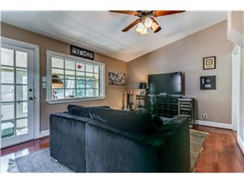 Real Estate Photography - 1524 Clinton St, Wilmington, DE, 19806 - Family Room Leads to Rear Porch