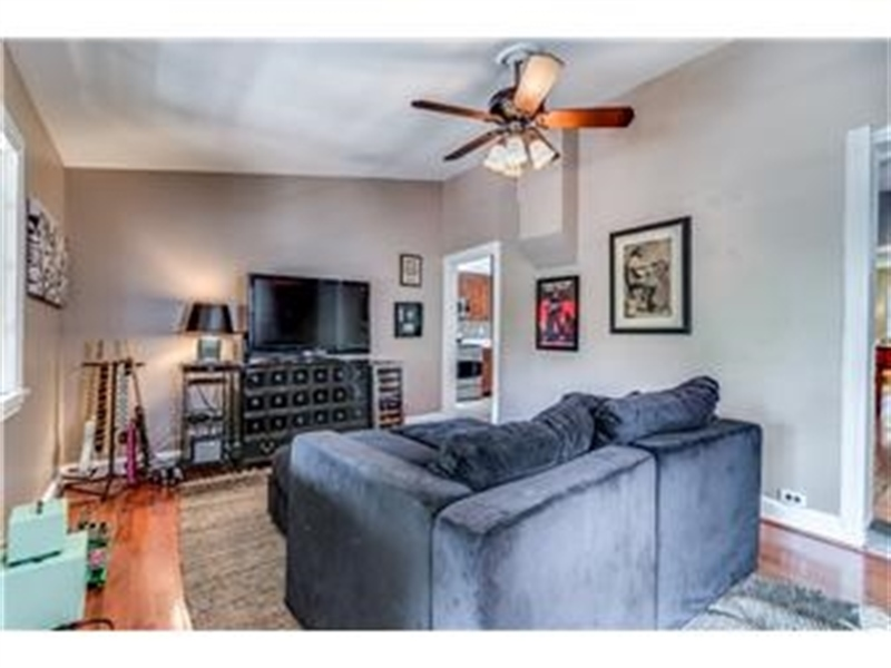 Real Estate Photography - 1524 Clinton St, Wilmington, DE, 19806 - Family Room with Hardwood Floors