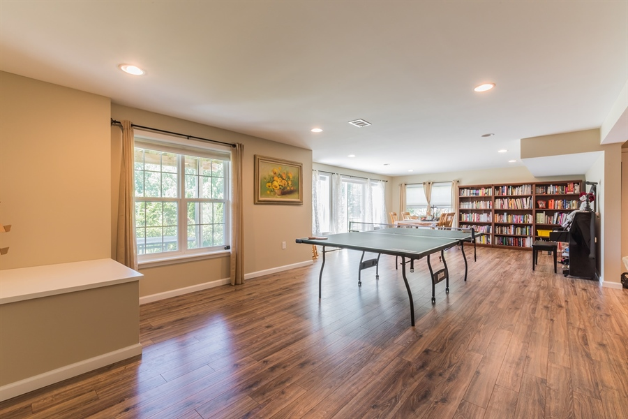 Real Estate Photography - 515 Giada Drive, Wilmington, DE, 19808-1430 - Fantastic lower level game room with walk out