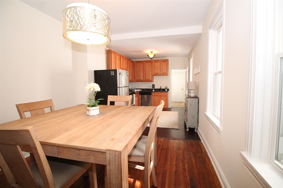 Real Estate Photography - 218 W 17th St, Wilmington, DE, 19802 - Open kitchen/dining room