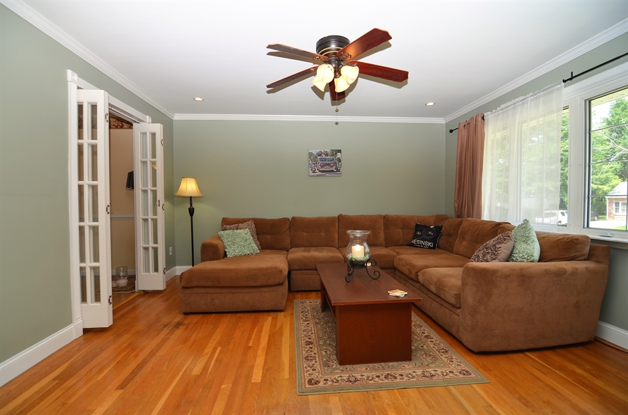 Real Estate Photography - 2210 Lancashire Dr, Wilmington, DE, 19810 - Living Room with Hardwood Floors