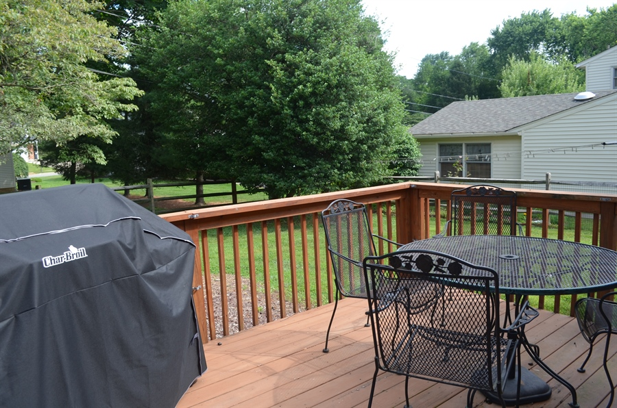Real Estate Photography - 8 Newside Ct, Newark, DE, 19711 - Deck perfect for outdoor entertaining.