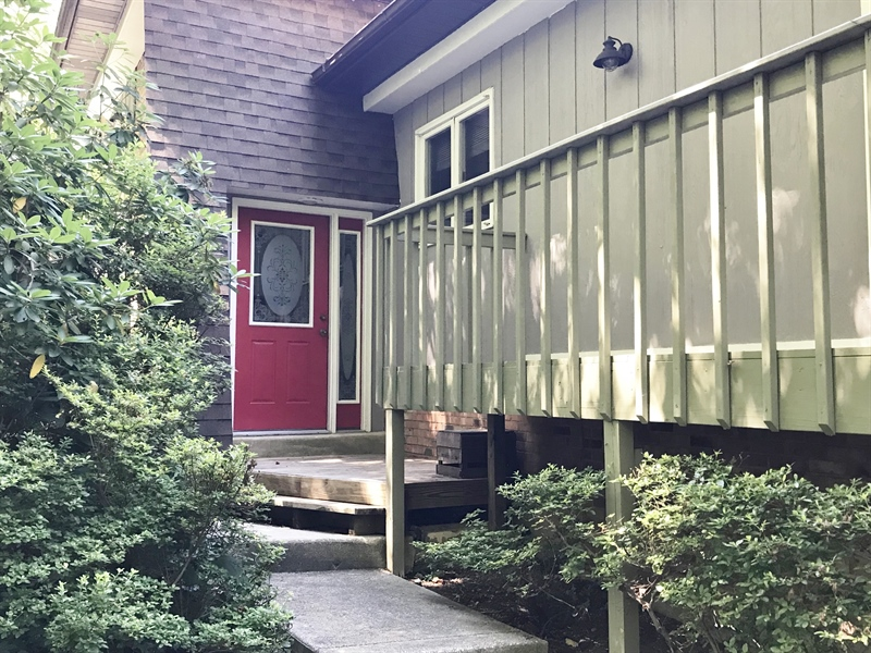 Real Estate Photography - 1 Heather Hill Ln, Elkton, MD, 21921 - Entrance, Wrap-around deck