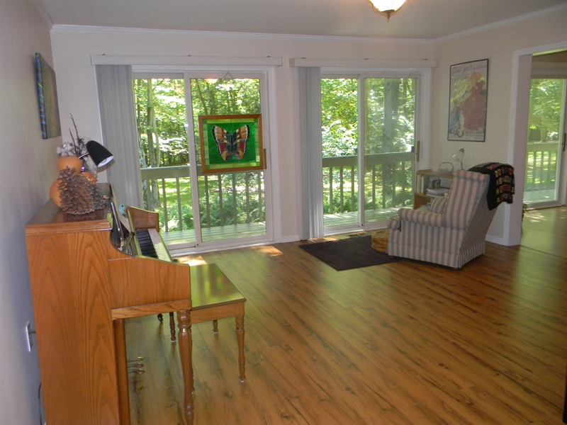 Real Estate Photography - 1 Heather Hill Ln, Elkton, MD, 21921 - Dining Rm. slider to deck
