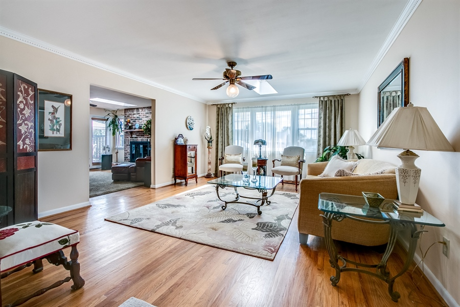 Real Estate Photography - 5 Wheatfield Dr, Wilmington, DE, 19810 - Living Room with skylight