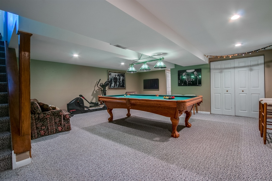 Real Estate Photography - 5 Wheatfield Dr, Wilmington, DE, 19810 - Finished Basement/Game Room