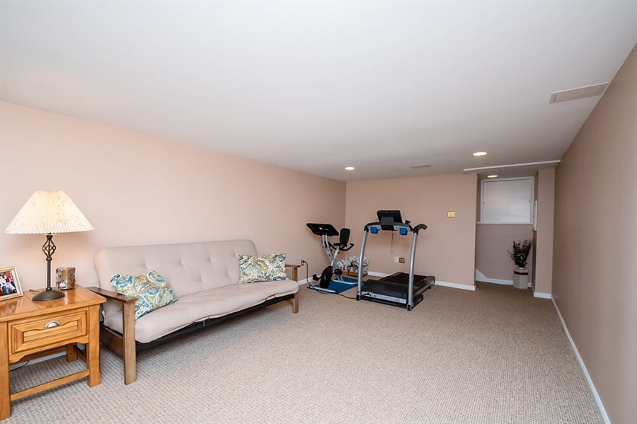 Real Estate Photography - 2319 Empire Dr, Wilmington, DE, 19810 - Another view of TV & Exercise Room