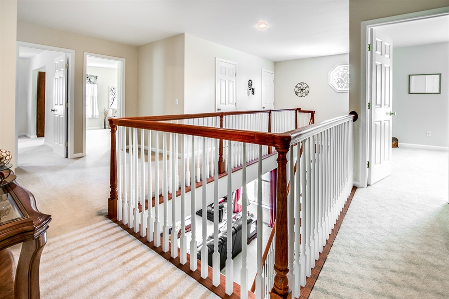 Real Estate Photography - 12 Oak Ave, # A, Newark, DE, 19711 - Stately Upstairs Hall and Stairway