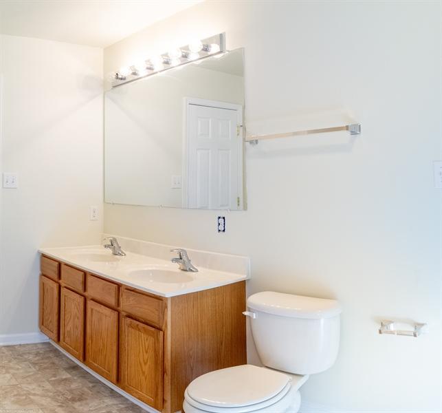 Real Estate Photography - 137 Ben Blvd, Elkton, DE, 21921 - Double bowl vanity