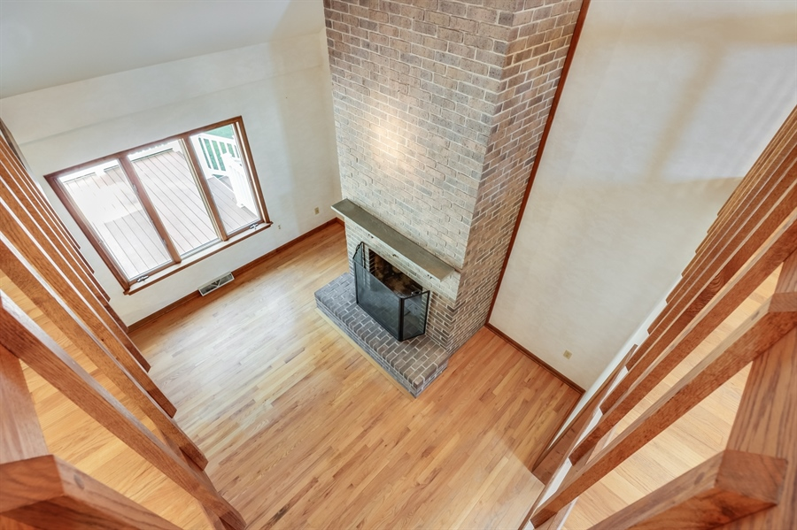 Real Estate Photography - 235 Pine Valley Rd, Dover, DE, 19904 - View of the Living room from upstairs