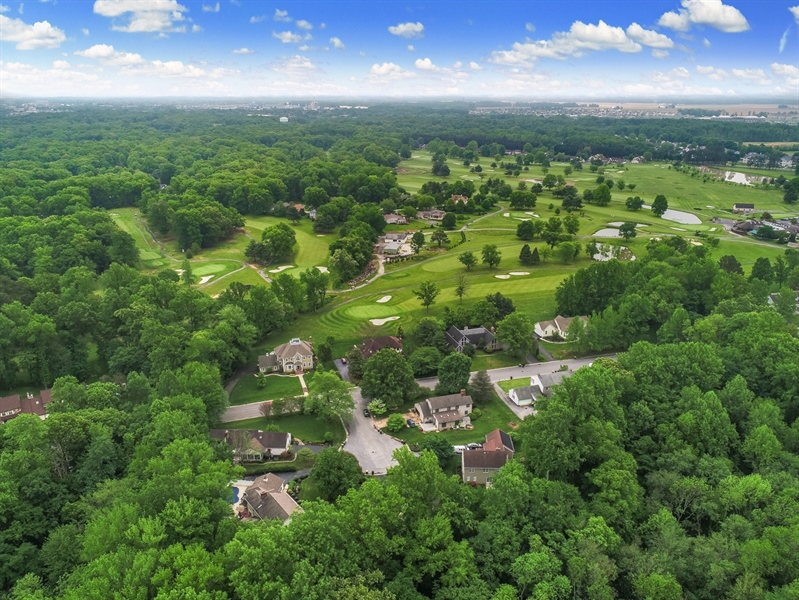 Real Estate Photography - 235 Pine Valley Rd, Dover, DE, 19904 - View above the house and toward the golf course