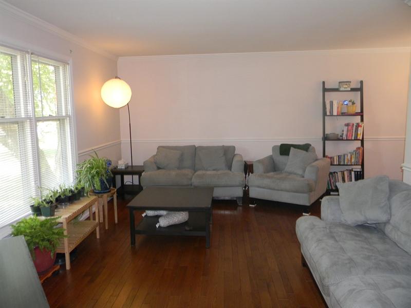 Real Estate Photography - 112 Kirkcaldy Dr, Elkton, MD, 21921 - Living Room, hardwood floors