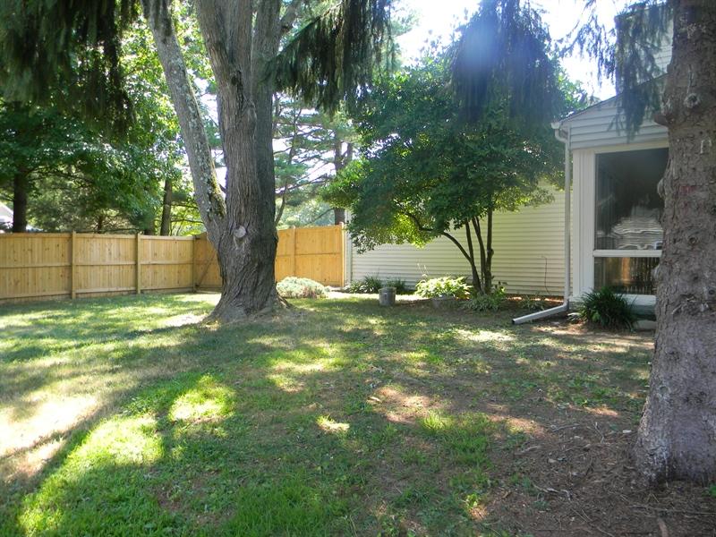 Real Estate Photography - 112 Kirkcaldy Dr, Elkton, MD, 21921 - Fenced back yard, mature shade
