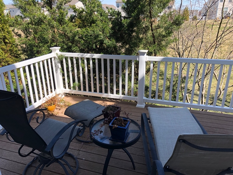 Real Estate Photography - 414 Afton Drive, Middletown, DE, 19709 - DECK overlooks open space