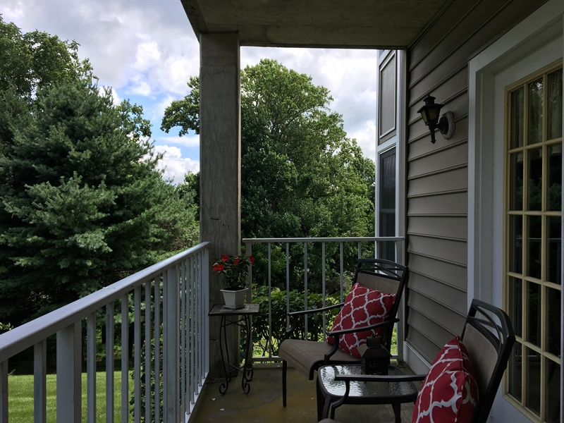Real Estate Photography - 1400 Braken Ave, Wilmington, DE, 19808 - Private balcony perfect for relaxing