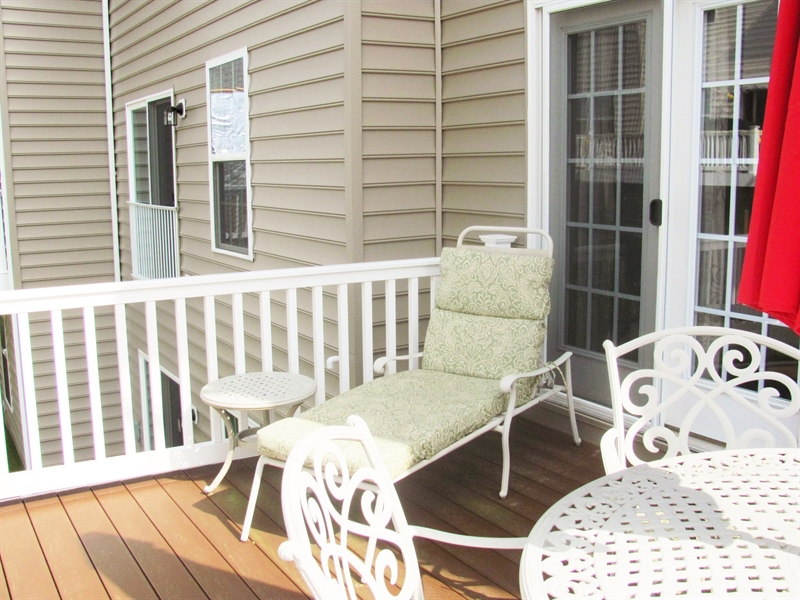 Real Estate Photography - 661 Barrie Road, Middletown, DE, 19709 - Relax On The Spacious Trex Deck
