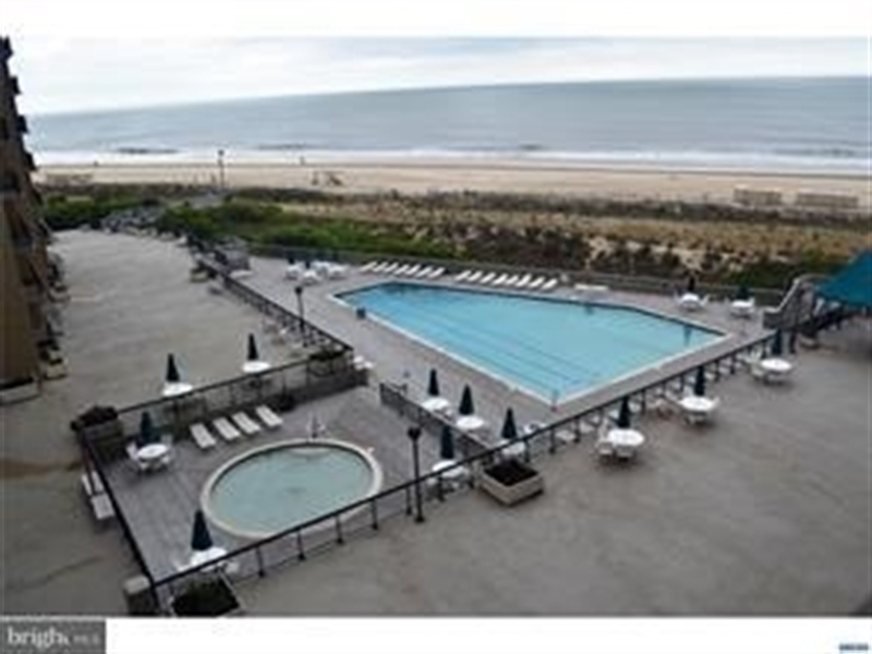Real Estate Photography - 511 Island House Rd, Bethany Beach, DE, 19930 - Balcony View of Pool & Hot Tub