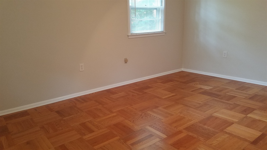 Real Estate Photography - 1418 Fresno Rd, Wilmington, DE, 19803 - Typical Bedroom w/ fresh Paint and Hardwood Floors