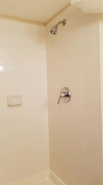Real Estate Photography - 1418 Fresno Rd, Wilmington, DE, 19803 - Lower Level Full Bathroom Stall Shower