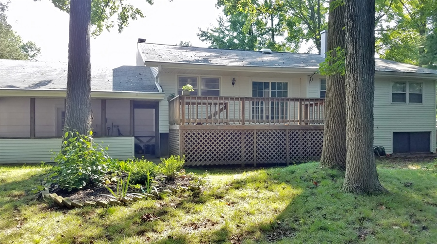 Real Estate Photography - 1418 Fresno Rd, Wilmington, DE, 19803 - Rear View w/ Screened In Porch