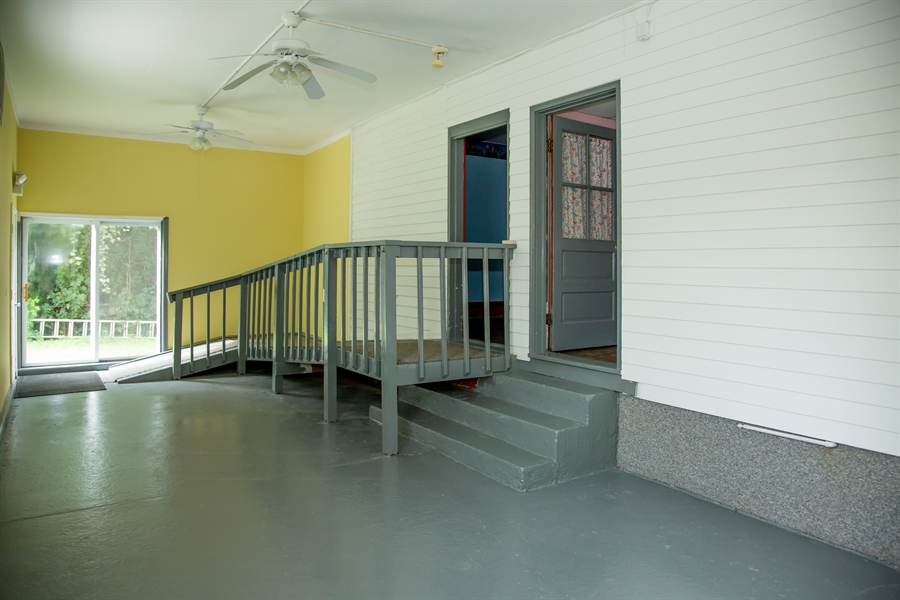 Real Estate Photography - 215 N Cass St, Middletown, DE, 19709 - Ramp from bedroom to 13' X 35' rec. area