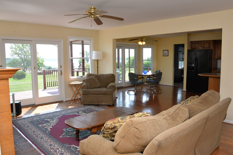 Real Estate Photography - 142 Willow Oak Ct, Elkton, MD, 21921 - Family Room With Sliders To Deck