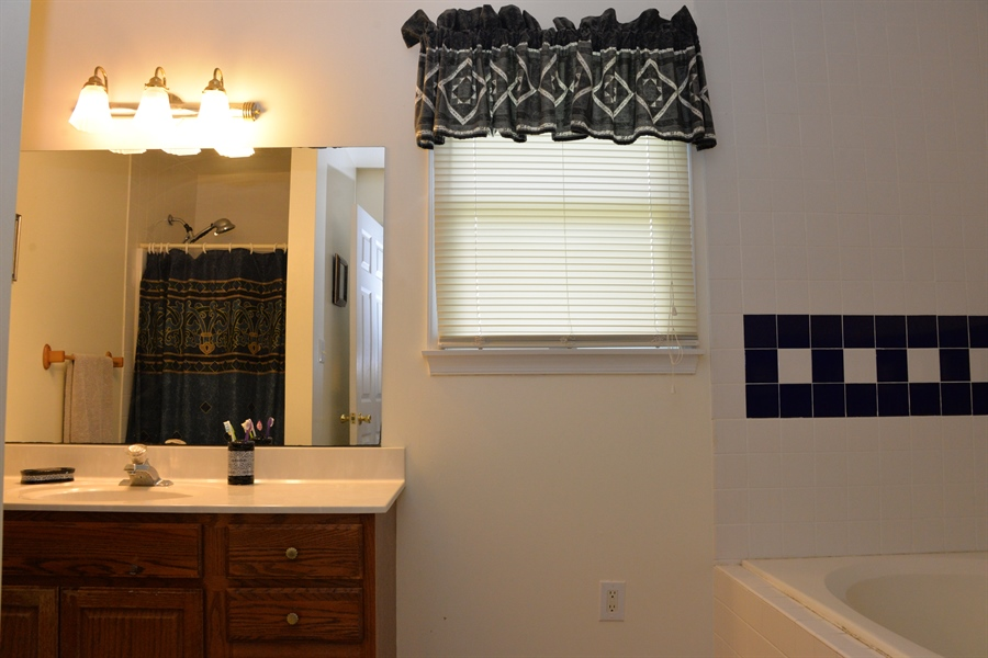 Real Estate Photography - 142 Willow Oak Ct, Elkton, MD, 21921 - Master Bath/Soaking Tub/Separate Shower