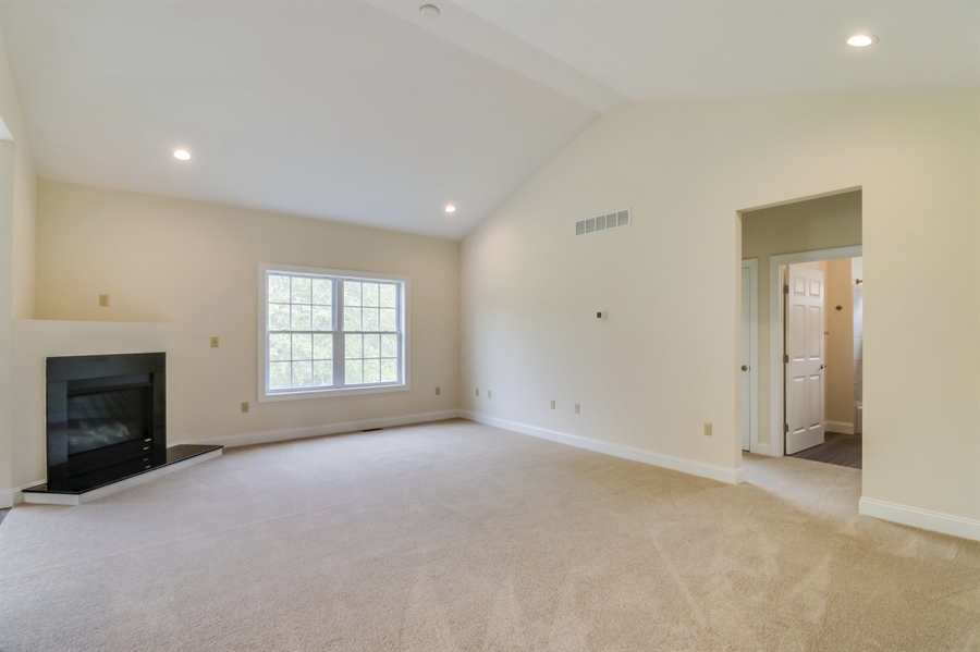 Real Estate Photography - 164 Laks Ct, Smyrna, DE, 19977 - Great room w/cathedral ceiling & corner f/place