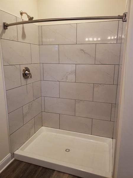 Real Estate Photography - 164 Laks Ct, Smyrna, DE, 19977 - Tiled shower