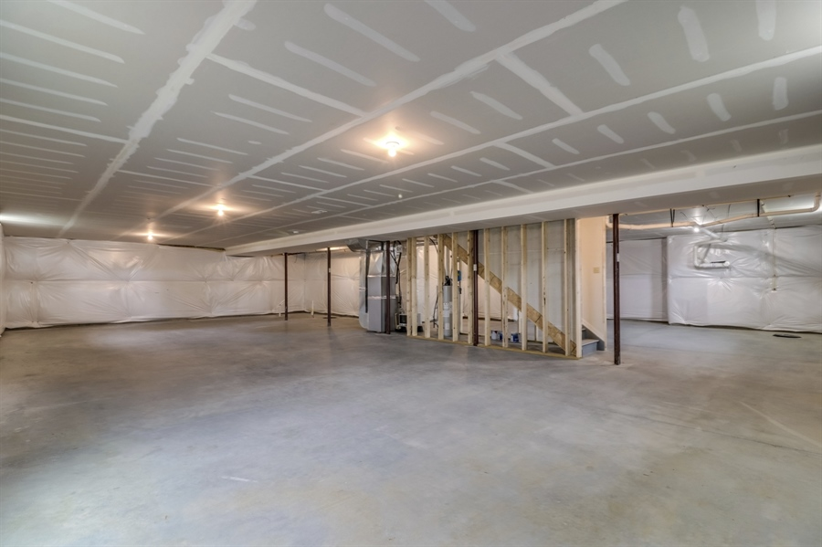 Real Estate Photography - 164 Laks Ct, Smyrna, DE, 19977 - Full insulated basement w/9' ceiling
