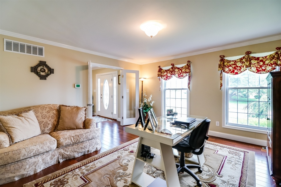 Real Estate Photography - 142 Bromley Dr, Wilmington, DE, 19808 - Lovely Living Room/Office