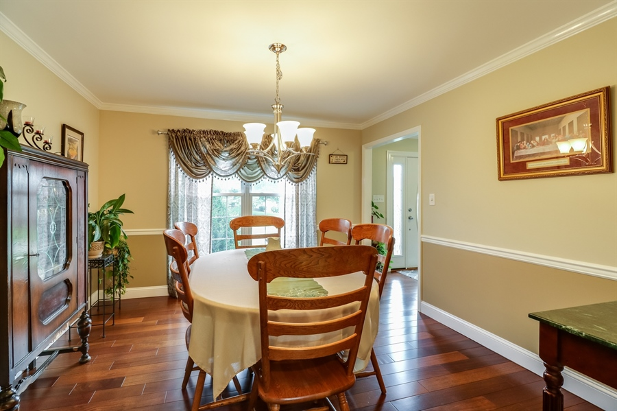 Real Estate Photography - 142 Bromley Dr, Wilmington, DE, 19808 - Dining Room has crown molding and chair rail