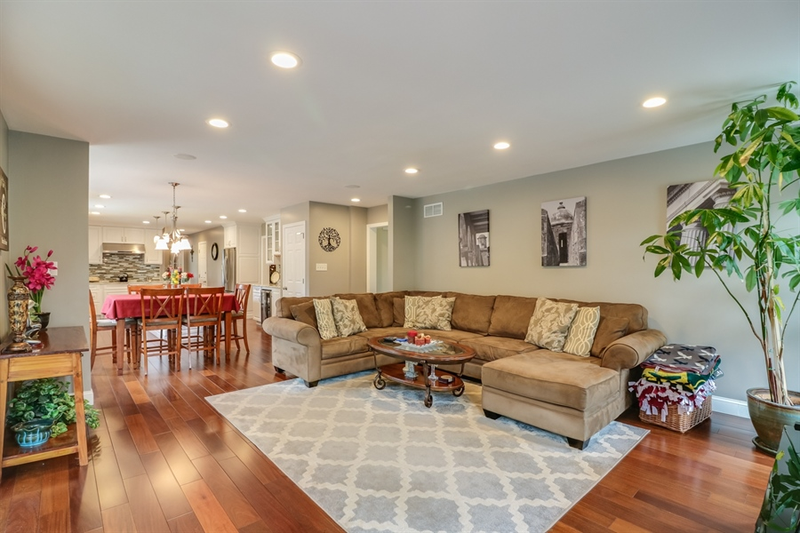 Real Estate Photography - 142 Bromley Dr, Wilmington, DE, 19808 - Family Room open to Kitchen
