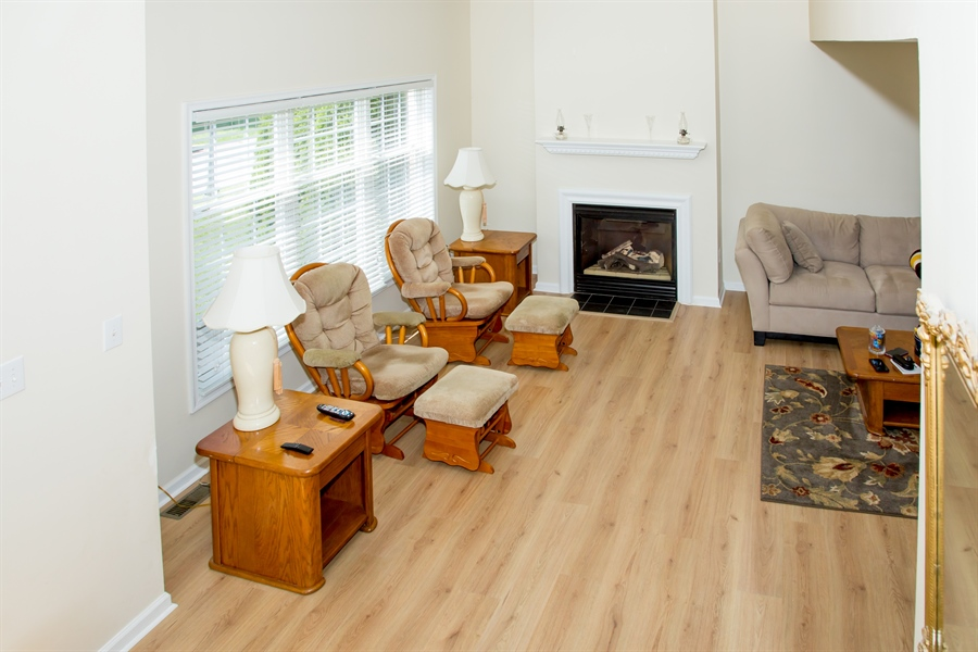 Real Estate Photography - 30 Longbow Ter, Hockessin, DE, 19707 - View of Great Room from Stairs to 2nd level
