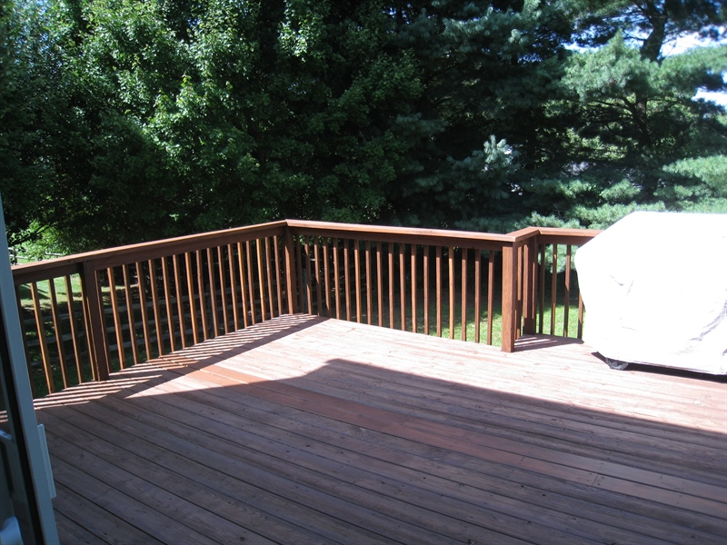Real Estate Photography - 30 Longbow Ter, Hockessin, DE, 19707 - Large rear deck for outdoor barbecuing