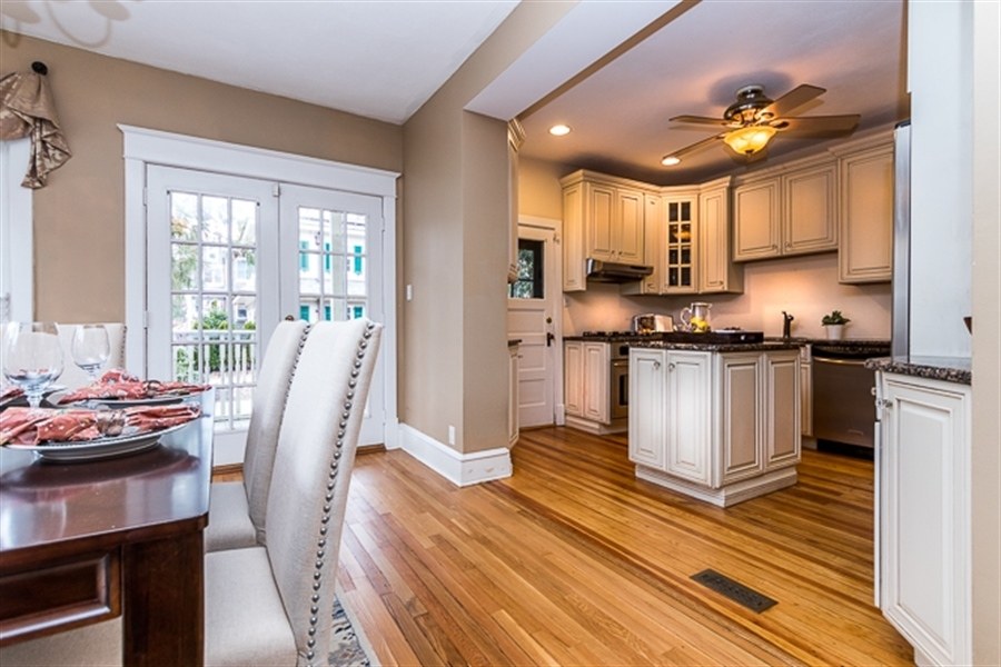 Real Estate Photography - 2101 N Grant Ave, Wilmington, DE, 19806 - Kitchen open to Dining Room