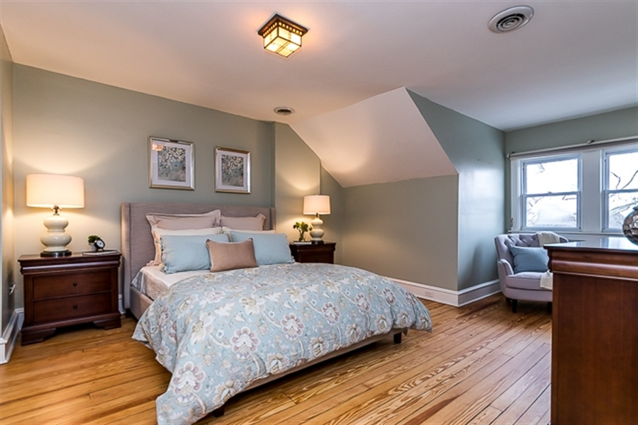 Real Estate Photography - 2101 N Grant Ave, Wilmington, DE, 19806 - Master Bedroom with gleaming hardwoods