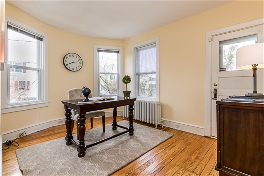 Real Estate Photography - 2101 N Grant Ave, Wilmington, DE, 19806 - Bdrm #4/study with bay window + rear 2nd flr deck