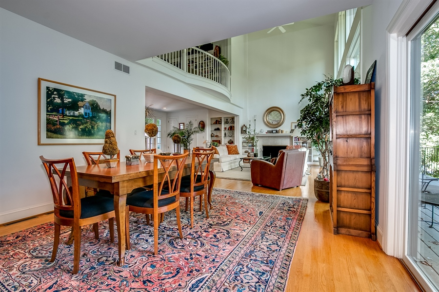 Real Estate Photography - 7 Brandywine Falls Rd, Wilmington, DE, 19806 - From Loft looking over Living area to the River